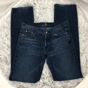 7 FOR ALL MANKIND boycut jeans size 30